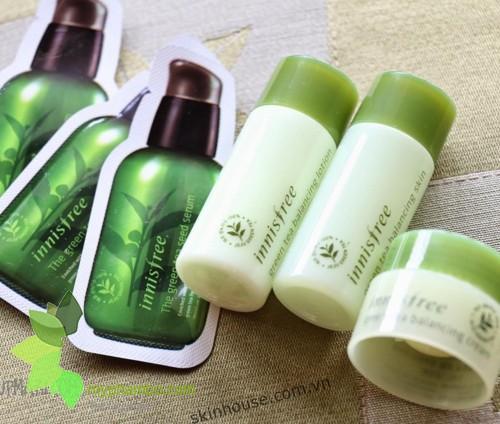 Bo duong tra xanh Innisfree Green Tea Balancing Special Skin Care Set - Han quoc (5)