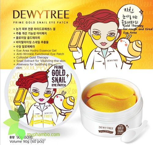 Mat na mat DewyTree Prime Gold Snail Eye Patch - Han quoc (review) (2)