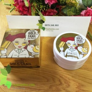 Mat na mat DewyTree Prime Gold Snail Eye Patch - Han quoc (review) (4)