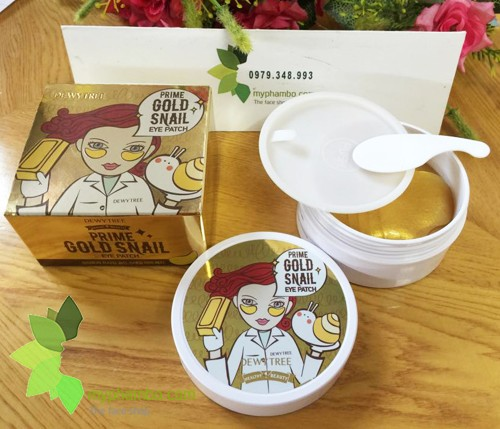 Mat na mat DewyTree Prime Gold Snail Eye Patch - Han quoc (review) (5)