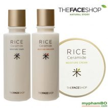 Bo duong da gao Rice Ceramide Moisture Line The face shop 3in1 (1)