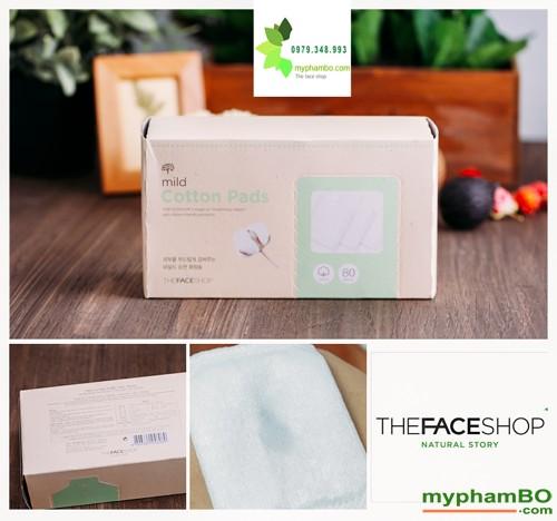 Bong tay trang The Face Shop Mild Cotton Pads (2)