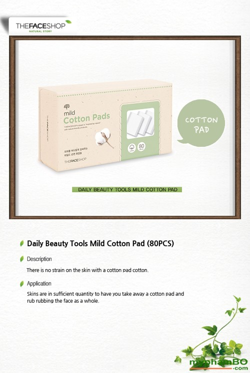Bong tay trang The Face Shop Mild Cotton Pads (3)