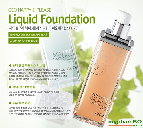 Kem nen geo lamy Sempre happy & please liquid foundation - Han quoc (2)