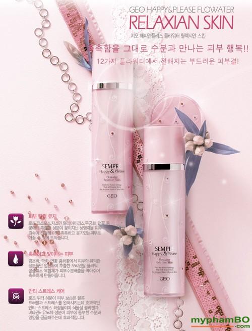 Nuoc hoa hong GEO Sempre Happy & Please Flowater Relaxian Skin (2)