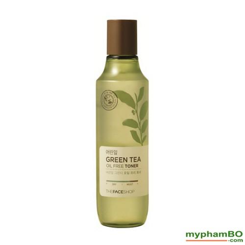 Nuoc hoa hong tra xanh The Face Shop - Green Tea Oil Free Toner (1)