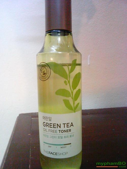 Nuoc hoa hong tra xanh The Face Shop - Green Tea Oil Free Toner (3)
