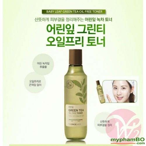 Nuoc hoa hong tra xanh The Face Shop - Green Tea Oil Free Toner (4)