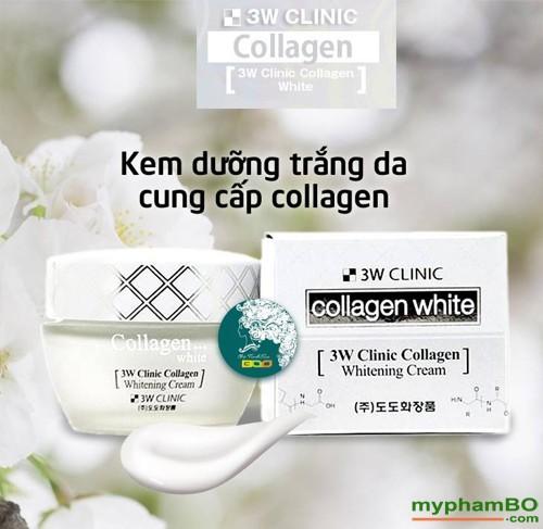 Kem duong trang da 3W Clinic Collagen Whitening Cream (1)