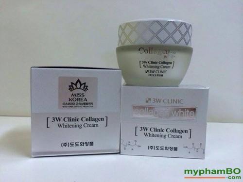 Kem duong trang da 3W Clinic Collagen Whitening Cream (2)