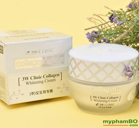 Kem duong trang da 3W Clinic Collagen Whitening Cream (3)
