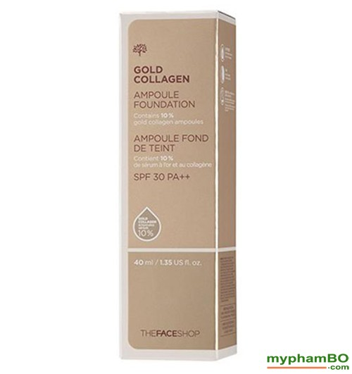 Kem nen The Face shop Gold Collagen Ampoule Foundation (1)