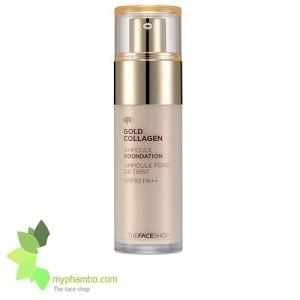 Kem nen The Face shop Gold Collagen Ampoule Foundation (1)3