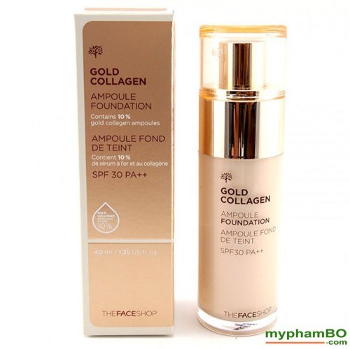 Kem nen The Face shop Gold Collagen Ampoule Foundation (2)