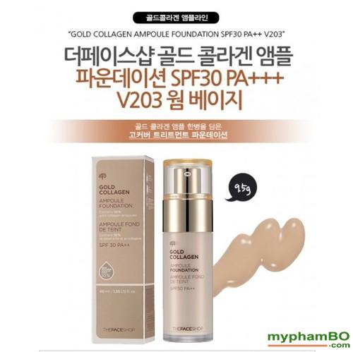 Kem nen The Face shop Gold Collagen Ampoule Foundation (4)