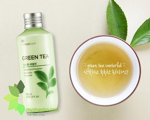 Sua duong the GreenTea waterfull emulision The Face Shop (1)