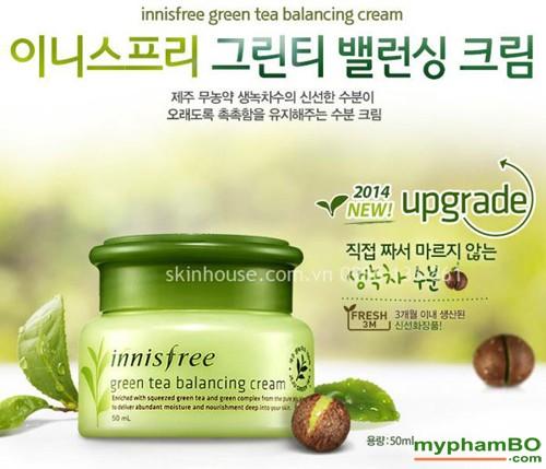 Kem duong da Tra xanh Green Tea Balancing Cream (2)1
