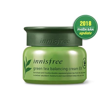 Kem duong da Tra xanh Green Tea Balancing Cream Innisfree (2)
