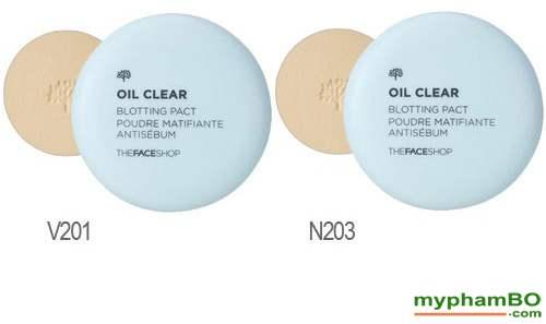 Phan phu kiem dau Oil Clear Smooth Bright Pact TheFaceShop211