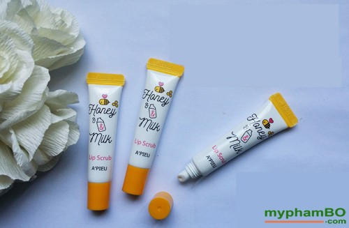 Tay Te Bao Chet Moi Honey Milk Lip Scrub APieu (4)