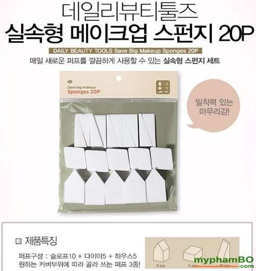mut trang diem save big makeup sponges 20p (4)