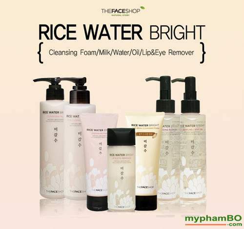 Nuoc tay trang gao rice water bright rice cleansing water TheFaceShop (4)