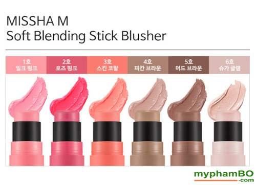 Phan ma hong (thoi) Missha Soft Blending Stick Blusher (2)