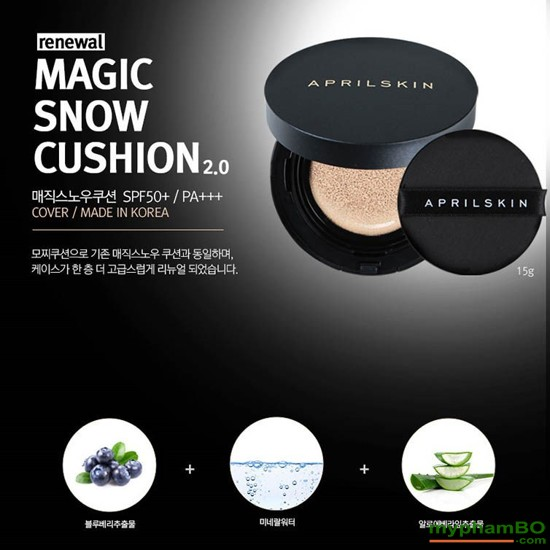 Phn nuc april skin magic snow cushion mu mi thong 9 – 2016 (2)