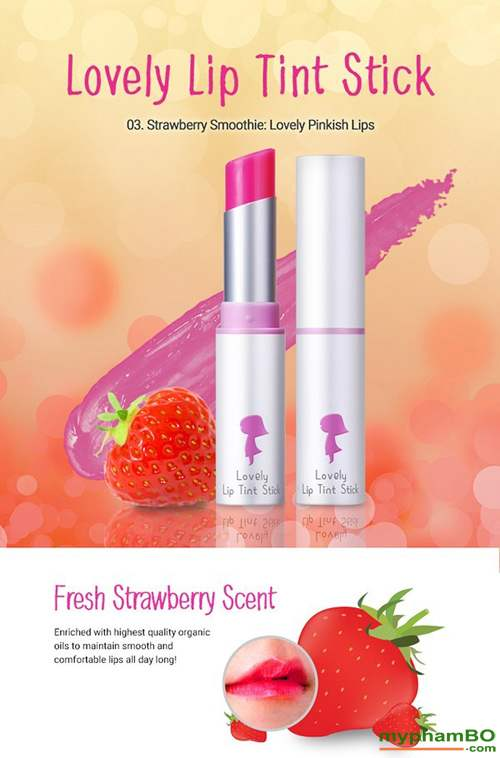 Son duong Yadah Lovely Lip Tint Stick (6)