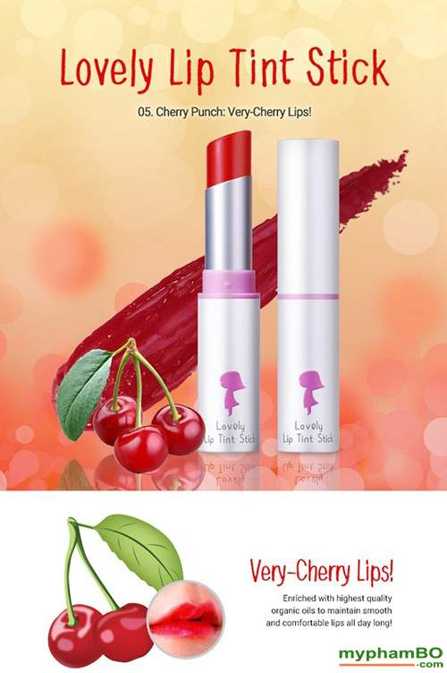 Son duong Yadah Lovely Lip Tint Stick (7)