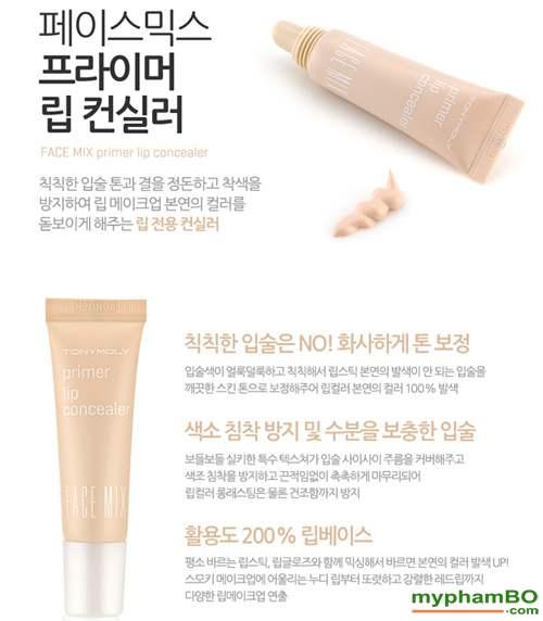Che khuyet diem moi Face Mix Primer Lip Concealer (4)
