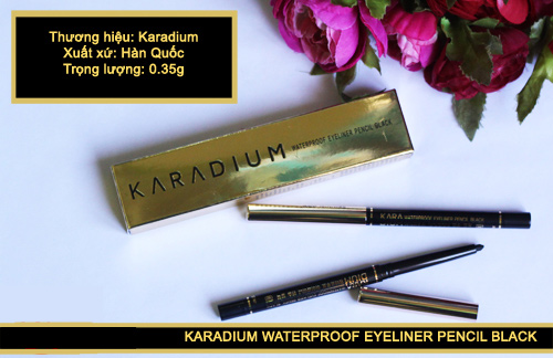 Chi Ke Mat Chong Tham Karadium Waterproof Eyeliner Pencil Black (2)