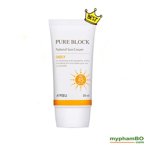 Kem chong nang a'pieu pure block natural sun cream 1 (2)