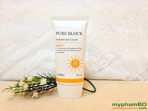 Kem chong nang a'pieu pure block natural sun cream 1 (3)