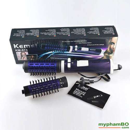 Luoc say xoay 2 dau Kemei 360 model KM-813 (4)