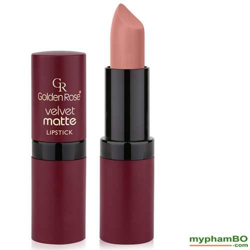 Son li mau nhung Golden Rose Velvet Matte Lipstick (3)