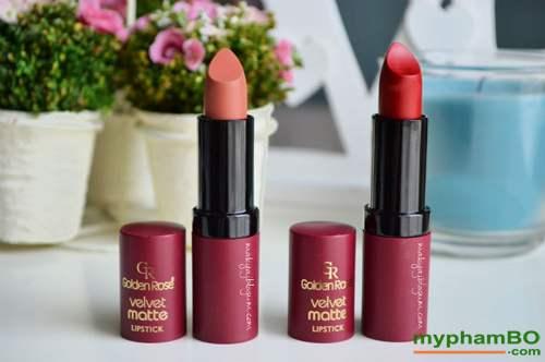 Son li mau nhung Golden Rose Velvet Matte Lipstick (5)