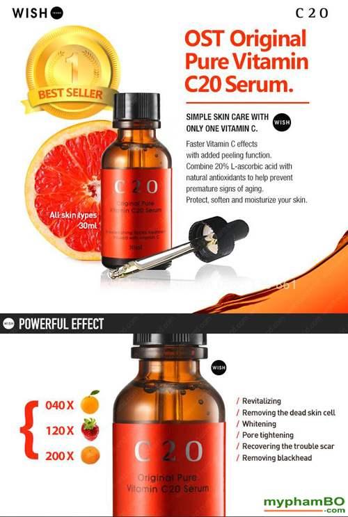Tinh chat c20 original pure vitamin c20 serum (5)