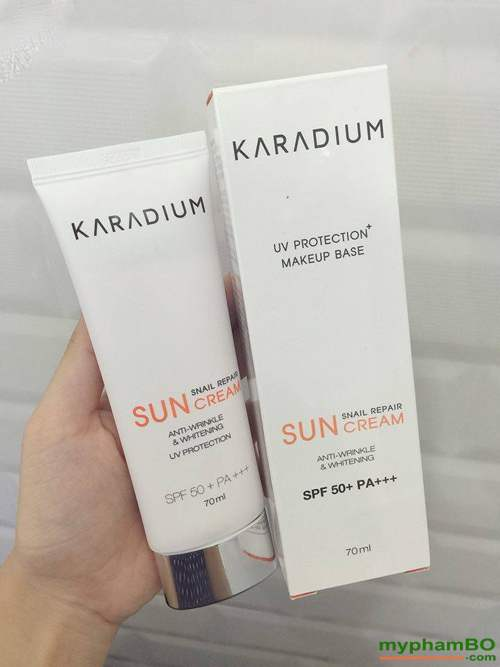 Kem chong nang karadium snail repair sun cream spf 50+ pa+++ (3)