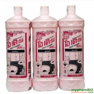 Nuoc tay rua toilet Okay Pink 960ml Thai Lan (1)