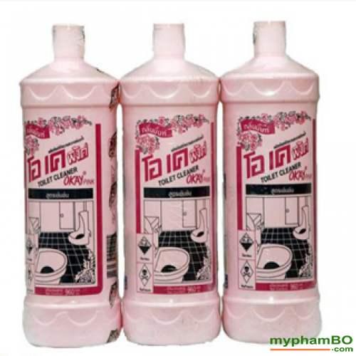 Nuoc tay rua toilet Okay Pink 960ml Thai Lan (1)