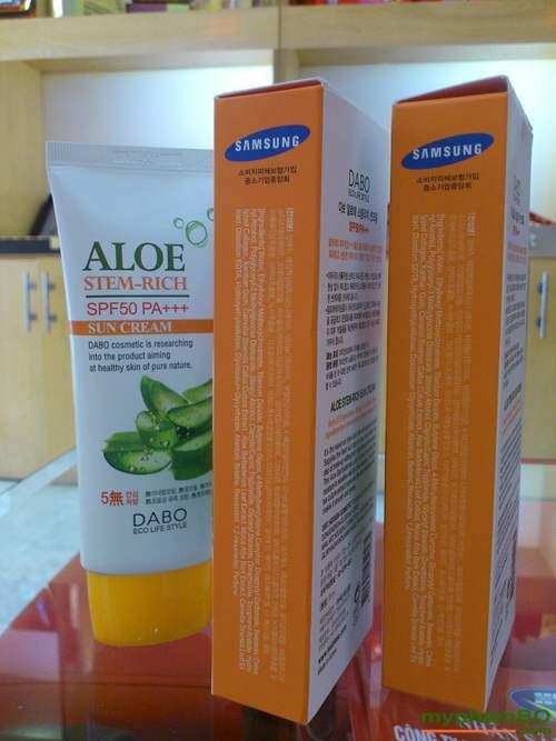 kem chong nang duong da lo hoi dabo spf50 pa+++ aloe stem-rich (3)