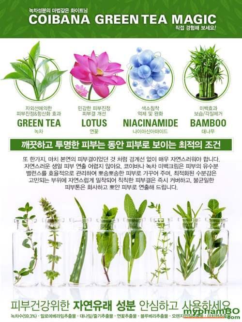 Kem Duong Trang Coibana Green Tea Magic Whitening (2)
