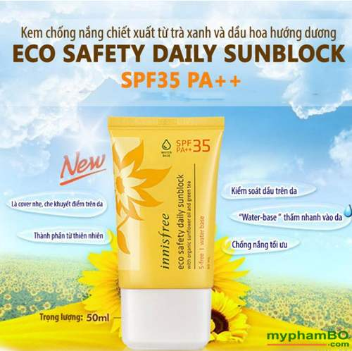 Kem chống nắng innisfree daily spf 35