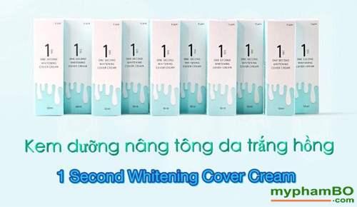 Kem nang tong da trang hong One Second Whitening Cover Cream (2)