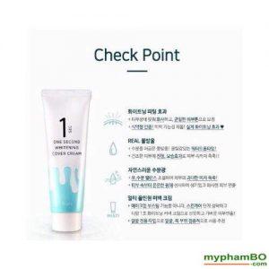 Kem nang tong da trang hong One Second Whitening Cover Cream (4)