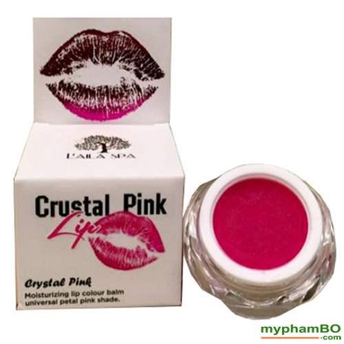 Son duong tri tham moi Laila Crystal Pink Lip (1)