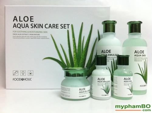 Bo my pham duong da lo hoi Foodaholic - Aloe Aqua Skin Care (4)