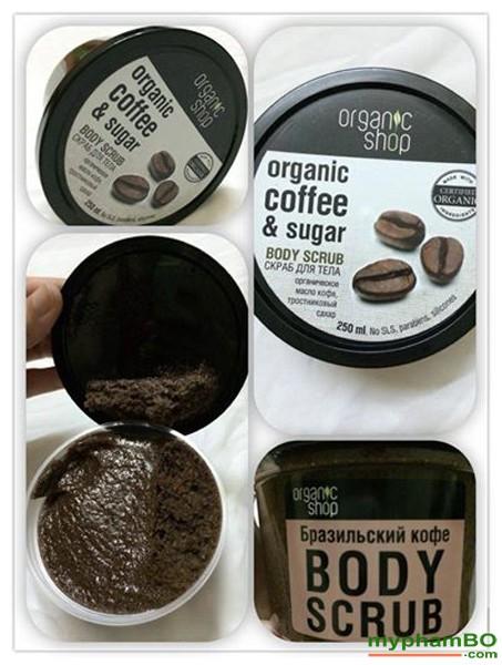 Kem tay da chet toan than Organic Shop chiet xuat Cafe (3)
