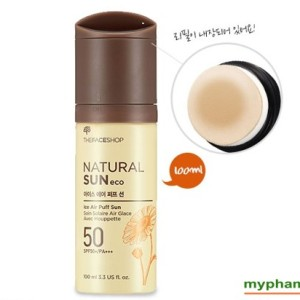 Xit chong nang The Face Shop Natural Sun Eco Ice Air Puff Sun SPF50 (1)